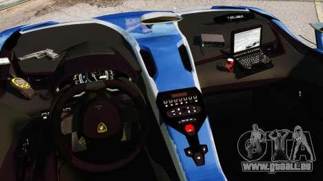 Lamborghini Aventador J Police pour GTA 4 est une vue de l'intérieur