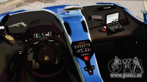 Lamborghini Aventador J Police für GTA 4 Innenansicht
