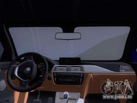 BMW F32 4 series Coupe 2014 pour GTA San Andreas vue de dessus