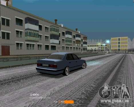 BMW E34 JDM pour GTA San Andreas vue de droite
