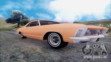 Buick Riviera 1963 pour GTA San Andreas vue arrière