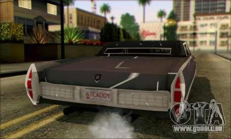 Cadillac Deville Lowrider 1967 pour GTA San Andreas laissé vue