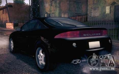 Mitsubishi Eclipse Fast and Furious für GTA San Andreas zurück linke Ansicht