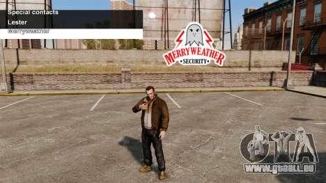 Services spéciaux Merryweather et Lester pour GTA 4