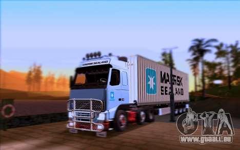 Remorque MAERSK pour GTA San Andreas vue de droite
