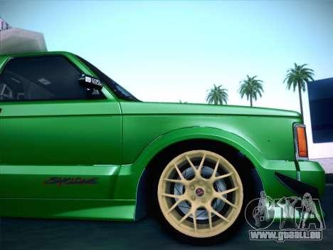 Mitsubishi Cyclone für GTA San Andreas Unteransicht