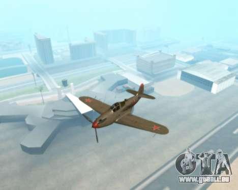 Aircobra P-39N pour GTA San Andreas vue arrière