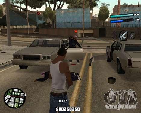 C-HUD by Tom pour GTA San Andreas deuxième écran