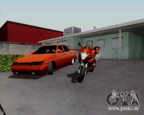 VAZ 2110 v2 pour GTA San Andreas laissé vue