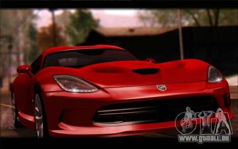 SRT Viper Autovista für GTA San Andreas Rückansicht