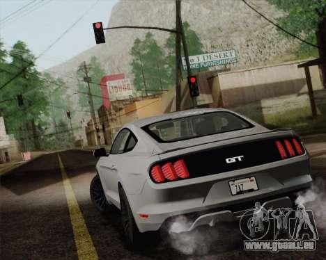 Ford Mustang GT 2015 pour GTA San Andreas laissé vue