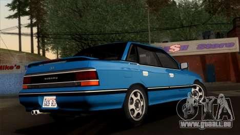Subaru Legacy 2.0 RS (BC) 1989 pour GTA San Andreas laissé vue