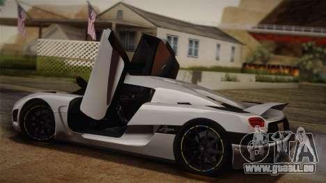 Koenigsegg Agera pour GTA San Andreas vue arrière
