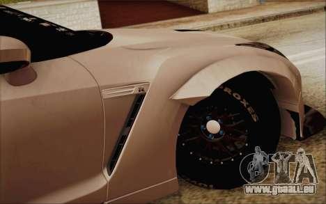 Nissan GT-R Liberty Walk pour GTA San Andreas sur la vue arrière gauche