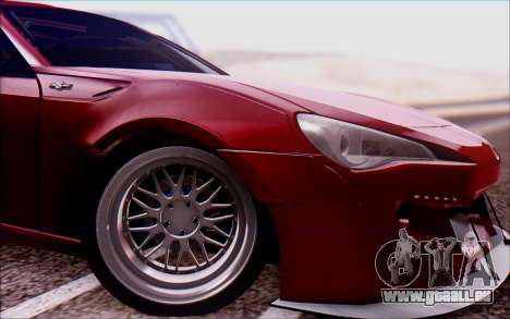 Toyota GT86 Rocket Bunny v2 pour GTA San Andreas sur la vue arrière gauche