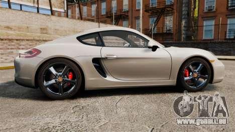 Porsche Cayman S 981C pour GTA 4 est une gauche