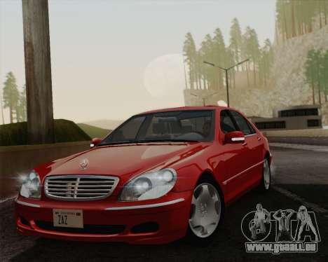 Mercedes-Benz S600 Biturbo 2003 pour GTA San Andreas vue arrière