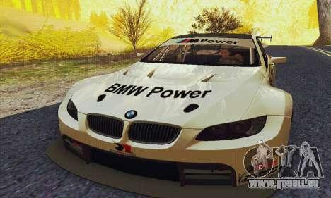 BMW M3 GT2 E92 ALMS pour GTA San Andreas vue arrière