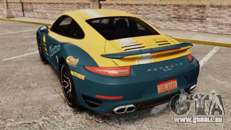 Porsche 911 Turbo 2014 [EPM] Alpinestars pour GTA 4 Vue arrière de la gauche