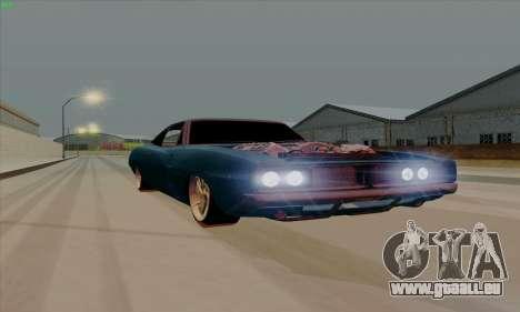 Dodge Charger 1969 Big Muscle pour GTA San Andreas laissé vue