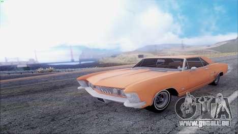 Buick Riviera 1963 pour GTA San Andreas vue intérieure