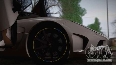 Koenigsegg Agera pour GTA San Andreas vue de côté