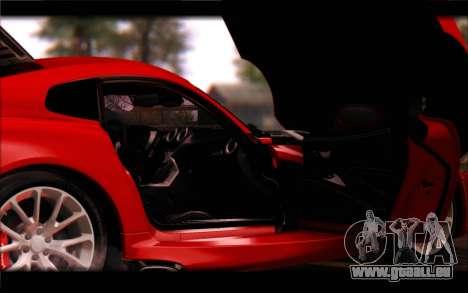 SRT Viper Autovista für GTA San Andreas Innen