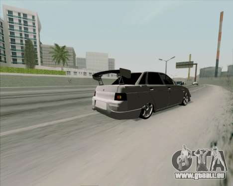 VAZ 2110 v2 pour GTA San Andreas vue intérieure
