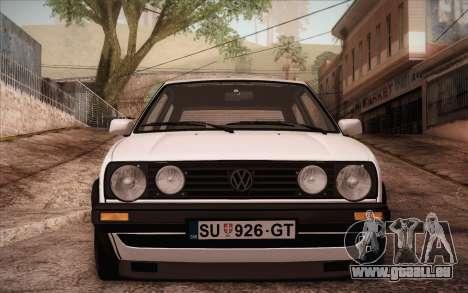 Volkswagen Golf Mk2 GTI pour GTA San Andreas sur la vue arrière gauche