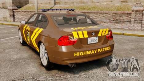 BMW 350i Indonesia Police v2 [ELS] pour GTA 4 Vue arrière de la gauche