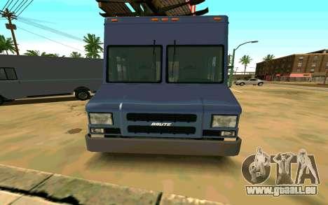 Boxville von GTA 4 für GTA San Andreas zurück linke Ansicht