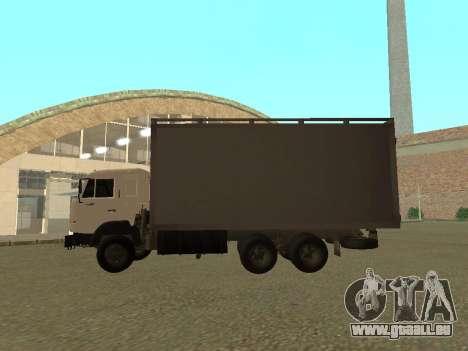 KAMAZ 54115 für GTA San Andreas zurück linke Ansicht