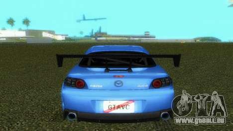 Mazda RX8 Type 1 pour GTA Vice City vue latérale