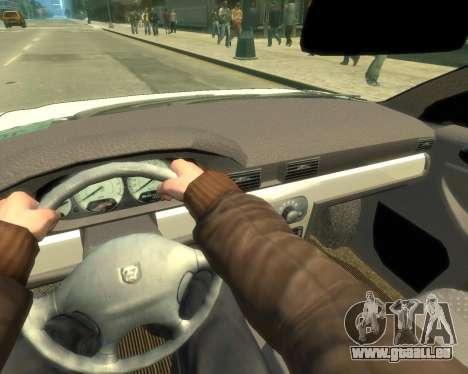GAZ Volga Sajber pour GTA 4 Vue arrière