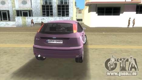 Ford Focus SVT pour GTA Vice City sur la vue arrière gauche
