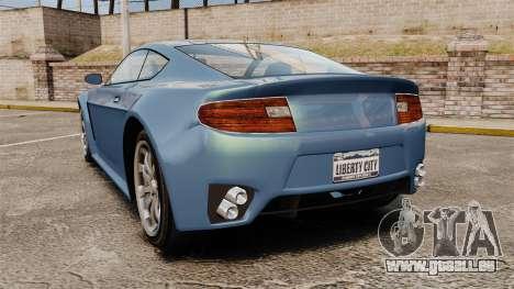 GTA V Rapid GT pour GTA 4 Vue arrière de la gauche