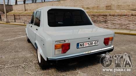 Zastava 128 für GTA 4 hinten links Ansicht