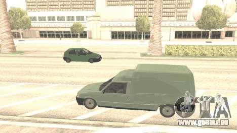 Fiat Fiorino Fire 07 pour GTA San Andreas vue arrière