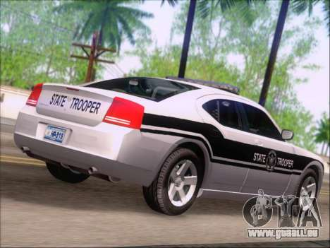 Dodge Charger San Andreas State Trooper für GTA San Andreas Rückansicht