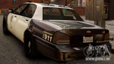 GTA V Police Cruiser pour GTA 4 est une gauche