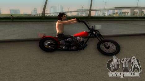 Harley Davidson Shovelhead für GTA Vice City zurück linke Ansicht