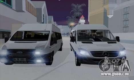 Ford Transit Jumgo für GTA San Andreas Seitenansicht