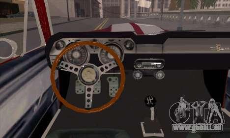Shelby GT500 E v2.0 für GTA San Andreas Innenansicht