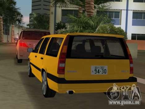 Volvo 850 R Estate für GTA Vice City Rückansicht