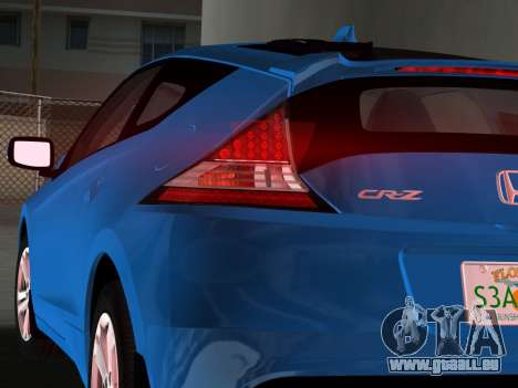 Honda CR-Z 2010 pour une vue GTA Vice City de la droite