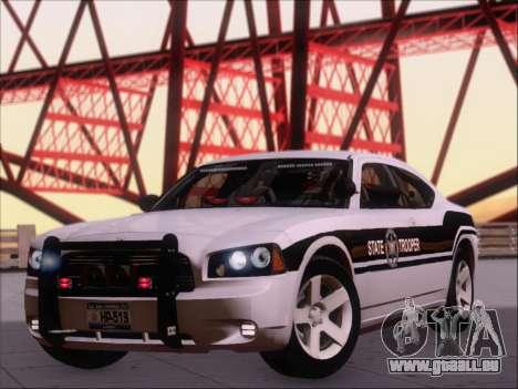 Dodge Charger San Andreas State Trooper pour GTA San Andreas laissé vue