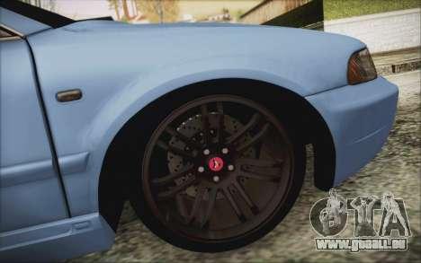 Audi S4 Hellaflush für GTA San Andreas Rückansicht
