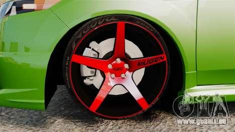 Acura TSX Mugen 2010 für GTA 4 Rückansicht