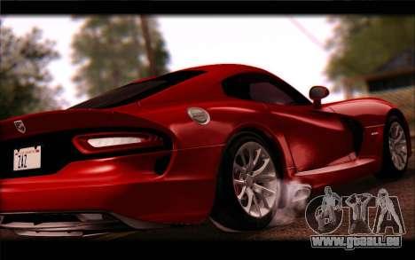 SRT Viper Autovista für GTA San Andreas zurück linke Ansicht