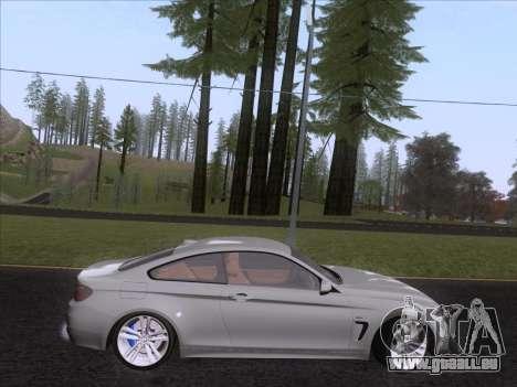 BMW F32 4 series Coupe 2014 pour GTA San Andreas sur la vue arrière gauche